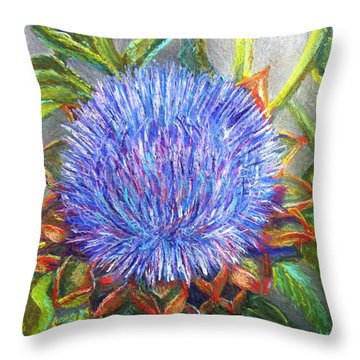 Artichoke Blossom Throw Pillow