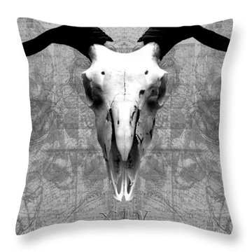 Artifactus I I Throw Pillow by Charles Creasy Jr