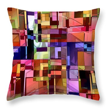 Throw Pillow featuring the digital art Artificial Boundaries by Ginny Schmidt