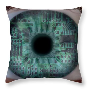 Artificial Intelligence Throw Pillow by Mike Agliolo
