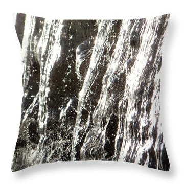 Throw Pillow featuring the photograph Artificial Waterfall by Marc Philippe Joly