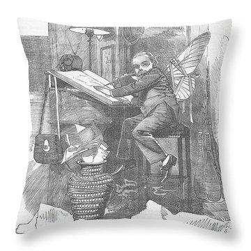 Artist At Work Editorial Art Throw Pillow