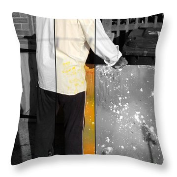 Artist At Work Part Two Throw Pillow by Sir Josef - Social Critic -  Maha Art
