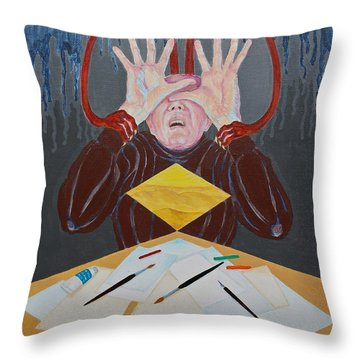 Artist Block Throw Pillow by Michele Myers