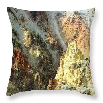 Artist Palette Of Yellowstone Throw Pillow by Kathleen Struckle