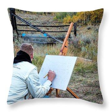 Artist Point Throw Pillow by Jim Garrison