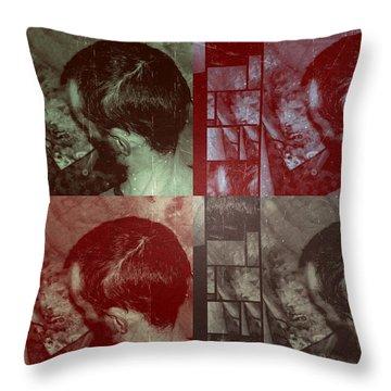 Throw Pillow featuring the photograph Artiste Stevo York Headpainting Part One by Sir Josef - Social Critic - ART