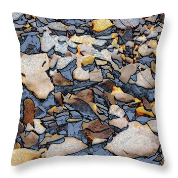 Throw Pillow featuring the photograph Artistic Rocks by Bob Pardue