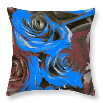 Throw Pillow featuring the photograph Artistic Roses On Your Wall by Joseph Baril