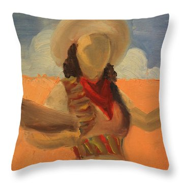 Artistic Senorita 1939 Throw Pillow