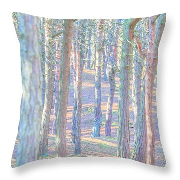 Throw Pillow featuring the photograph Artistic Trees by Susan Leonard