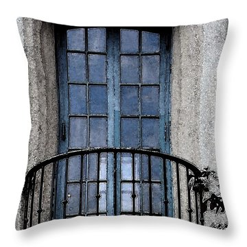 Artistic Window Throw Pillow