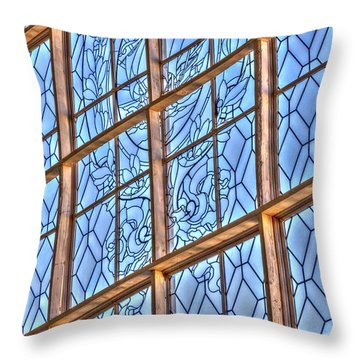 Throw Pillow featuring the photograph Artistic Window by Susan Leonard