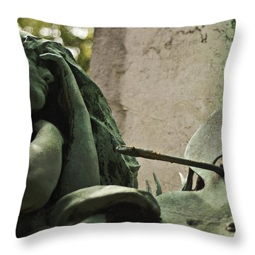 Artists Angel Throw Pillow by Georgia Fowler