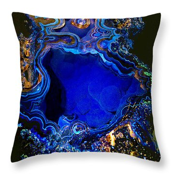 Artists Bisbee Velvet Beauty Azurite Throw Pillow