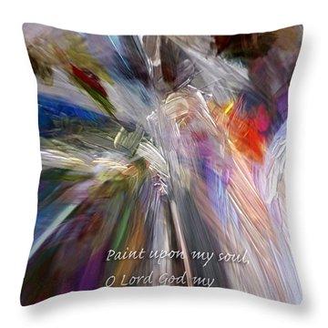 Artist's Prayer Throw Pillow