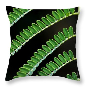 Artsy Green Throw Pillow by Sabrina L Ryan