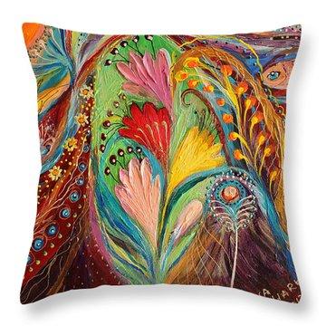 Artwork Fragment 64 Throw Pillow by Elena Kotliarker