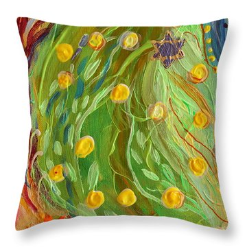 Artwork Fragment 81 Throw Pillow by Elena Kotliarker