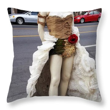 Throw Pillow featuring the photograph Artwork In The Loop by Kelly Awad