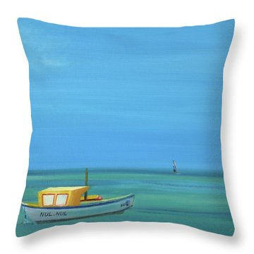 Throw Pillow featuring the painting Aruba by Donna Tuten