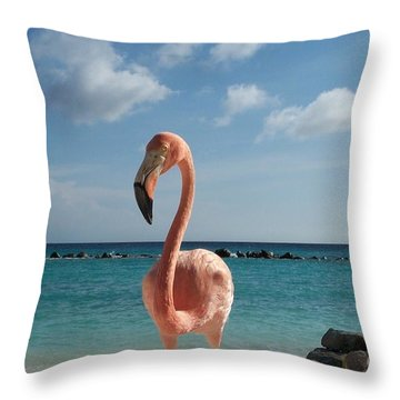 Aruba Hairy Eyeball Throw Pillow