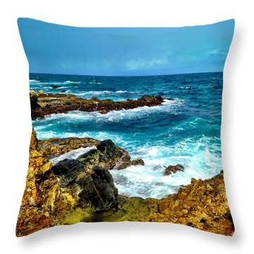 Aruba Paradise Throw Pillow by Krista Feierabend