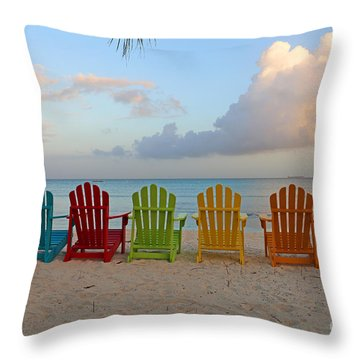 Aruba Sunrise 0746a Throw Pillow