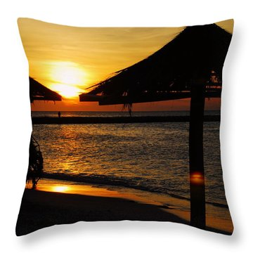Aruba Sunset Throw Pillow