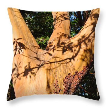 Arbutus - Shadows From Above Throw Pillow