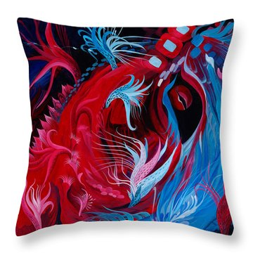 As A Beating Heart Throw Pillow by Adria Trail