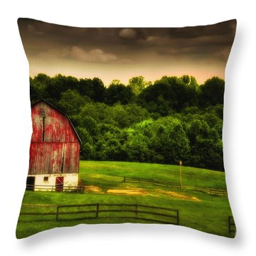 Throw Pillow featuring the photograph As Darkness Falls by Lois Bryan