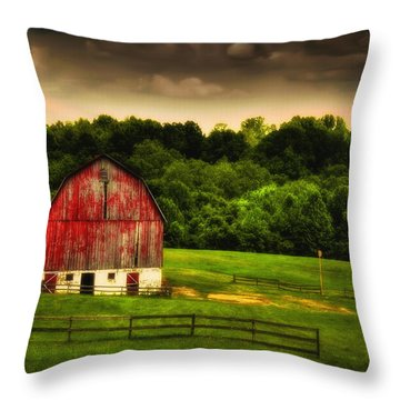 As Darkness Falls Throw Pillow by Lois Bryan