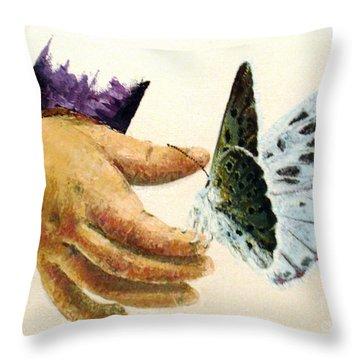 As Delicate As A Butterfly  Throw Pillow by Tatjana Popovska