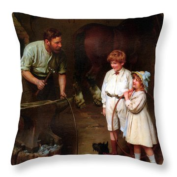 As Good As Ever Throw Pillow by Arthur John Elsley