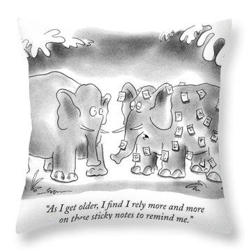 As I Get Older Throw Pillow