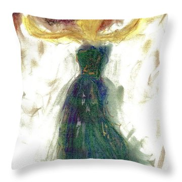 Throw Pillow featuring the painting as if Dancing in Heaven by Lesley Fletcher