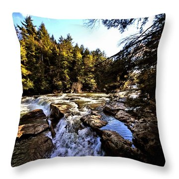 As Lawrence Welk Used To Say-ah Waterfall Waterfall Throw Pillow