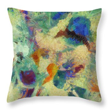 Throw Pillow featuring the painting As Our Eyes Met by Joe Misrasi