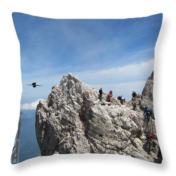 Throw Pillow featuring the photograph As The Crow Flies 1 by Pema Hou