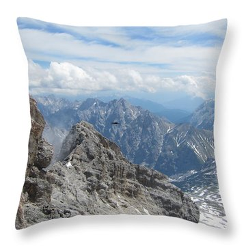 Throw Pillow featuring the photograph As The Crow Flies by Pema Hou