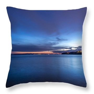 As The Night Sets In - By Sabine Edrissi Throw Pillow
