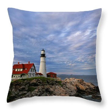 As The Sky Reaches The Water Throw Pillow