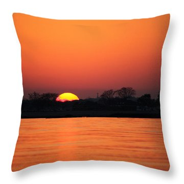 As The Sun Goes Down  Throw Pillow by Karol Livote