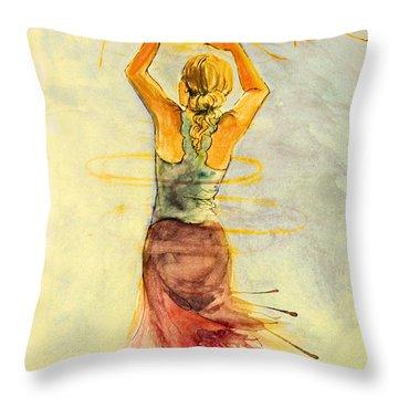 As The Sun Rises Throw Pillow