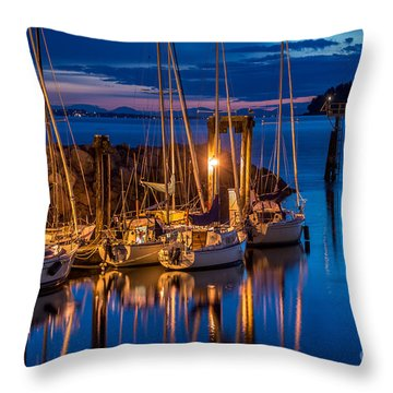 As The Sun Sets - By Sabine Edrissi Throw Pillow