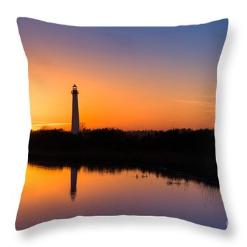 As The Sun Sets And The Water Reflects Throw Pillow