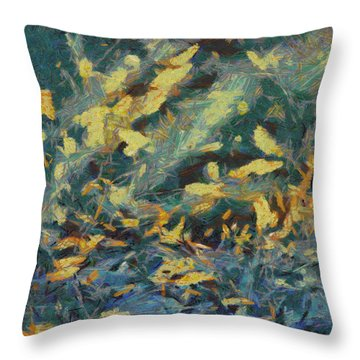 Throw Pillow featuring the painting As The Wind Blows by Joe Misrasi
