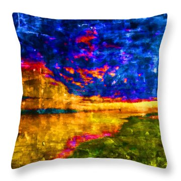 Throw Pillow featuring the painting As The World Ends by Joe Misrasi