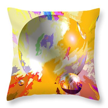 As The World Turns With Peace Throw Pillow